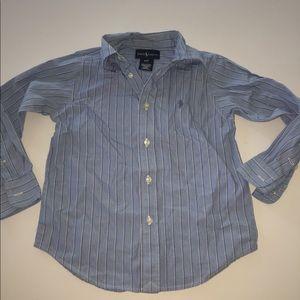 Polo Ralph Lauren dress shirt blue shirt 4t button